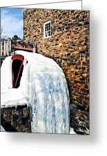Grist Mill In Winter Greeting Card