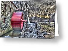 Grist Mill Sudbury Greeting Card by Adam Green