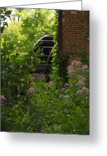 Grist Mill Wheel Vertical Greeting Card