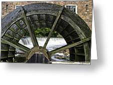 Grist Mill Wheel With Spillway Greeting Card