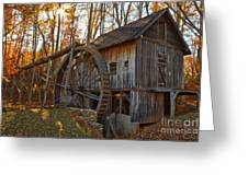 Grist Mill With A Golden Glow Greeting Card