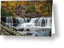 Grist Mill With Vibrant Fall Colors Greeting Card