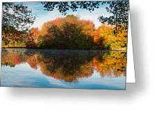 Grist Millpond Framed Greeting Card by Michael Blanchette