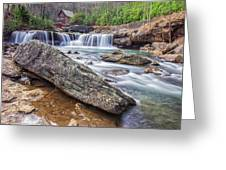 Gristmill At The Creek Greeting Card