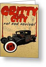 Gritty Greeting Card by David Honaker