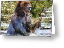 Grizzly Bear Photo Art 02 Greeting Card