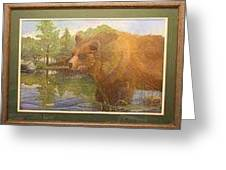 Grizzly Greeting Card by Rick Huotari