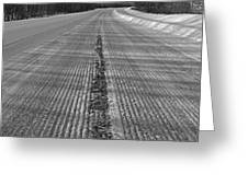 Grooved Road Greeting Card