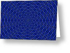 Mandala Blue Marvel Greeting Card