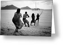 Gros Islet Fishermen Greeting Card