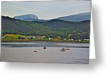 Gros Morne Mountain Over Bonne Bay At Norris Point In Gros Morne Np-nl Greeting Card