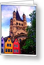 Gross St. Martin In Cologne Germany Greeting Card