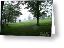 Grossinger Golf Course Rainy Day  Greeting Card by Kevin Croitz