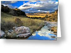 Grosvenor Hills 17 Miles North Of Mexico Greeting Card