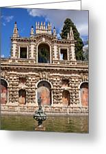 Grotesque Gallery In Real Alcazar Of Seville Greeting Card
