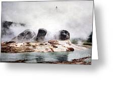 Grotto Geyser Yellowstone National Park Greeting Card