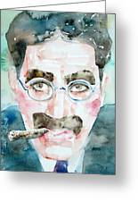 Groucho Marx Watercolor Portrait.1 Greeting Card