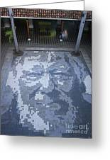 ground mosaic in the cultural center of Granada Nicaragua Greeting Card