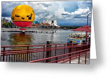 Grounded By The Storm Balloon Ride Walt Disney World Greeting Card