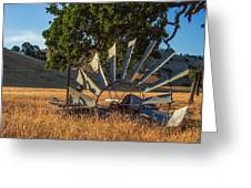 Grounded Windmill Greeting Card