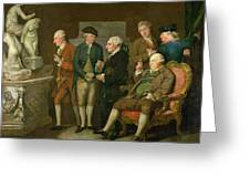 Group Of Connoisseurs Greeting Card