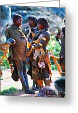 Group Of Ethiopian Women Painting Greeting Card