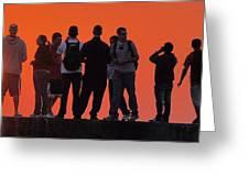 Group Sunrise Greeting Card