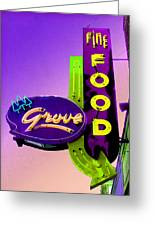 Grove Fine Food Var 2 Greeting Card by Gail Lawnicki