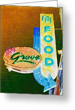 Grove Fine Food Var 3 Greeting Card by Gail Lawnicki