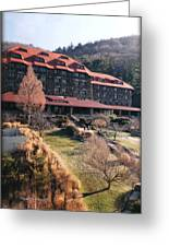 Grove Park Inn In Early Winter Greeting Card by Paulette B Wright