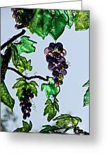 Growing Glass Grapes Greeting Card