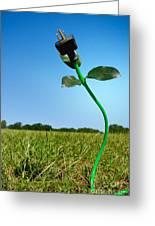Growing Green Energy Greeting Card
