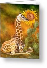 Growing Tall - Giraffe Greeting Card