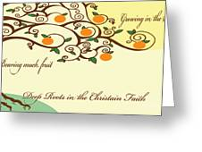 Growing With Deep Roots Greeting Card