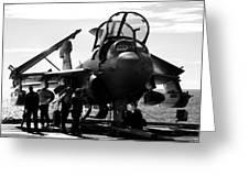 Grumman Ea-6b Prowler B-w Greeting Card