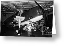 Grumman Eastern Aircraft Tbm 3e Tbm3e Avenger On The Hangar Deck At The Intrepid Air Space Museum Greeting Card