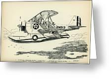 Grumman J2f-2a  Amphibian Greeting Card