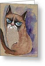 Grumpy Cat Is Watching You Greeting Card