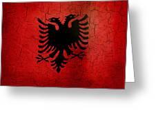 Grunge Albania Flag Greeting Card