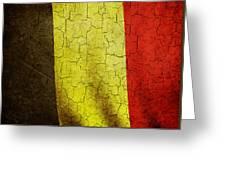 Grunge Belgium Flag Greeting Card