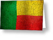 Grunge Benin Flag Greeting Card