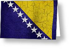 Grunge Bosnia And Hertzegoniva Flag Greeting Card