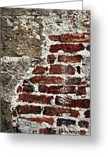 Grunge Brick Wall Greeting Card