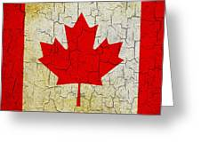 Grunge Canada Flag Greeting Card