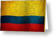 Grunge Colombia Flag Greeting Card