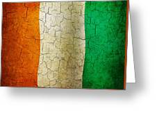 Grunge Cote D'voire Flag Greeting Card