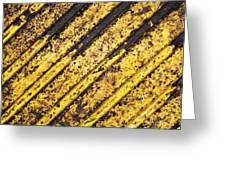 Grunge Dirty Yellow Texture Greeting Card