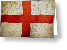 Grunge England Flag Greeting Card