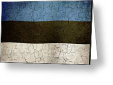 Grunge Estonia Flag Greeting Card
