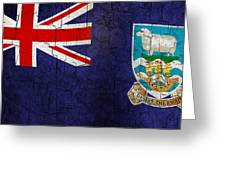 Grunge Falkland Islands Flag Greeting Card